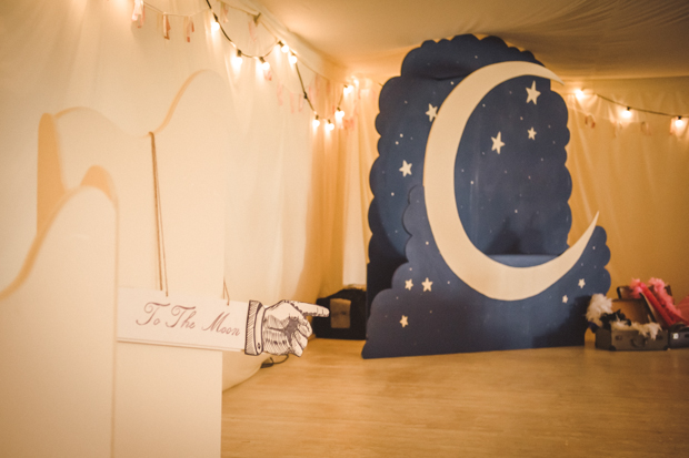 Stunning Moon photo booth backdrop - Moon and Stars www.janehayescreative.com