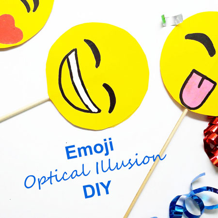 Amazing Emoji Optical Illusion DIY. Make this fun party favour or gift, full step by step at www.janehayescreative.com